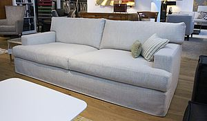Meridiani Sofa James - Boganrt 220 in nauturfarbenem Stoffbezug