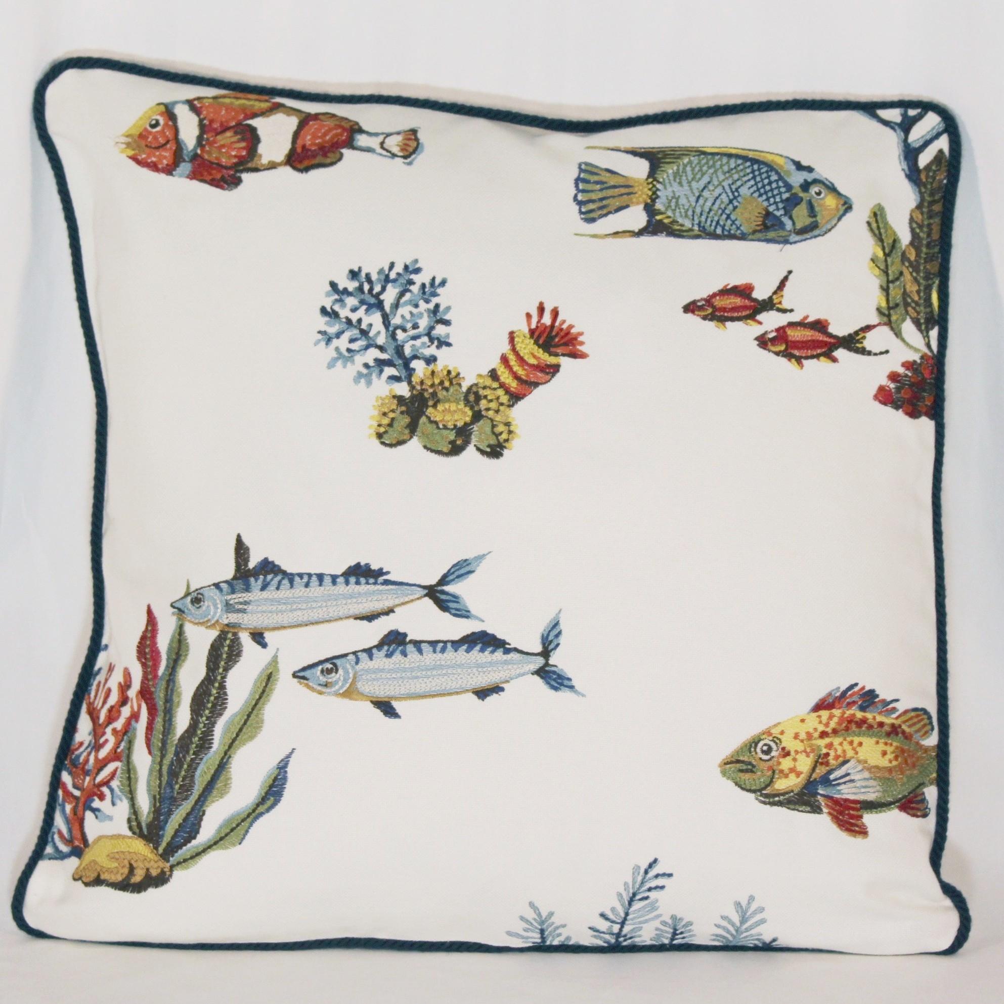 kissen mit szenen aus der unterwasserwelt 50 x 50 cm